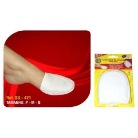 Sapatilha de tecido com gel Ortho Pauher(par)-cor branca-tamanhos P/M/G