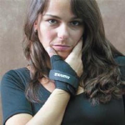 Tala funcional curta para polegar na cor preta Salvapé(tamanhos P/M/G/GG)-lados dir./esq.(unidade)