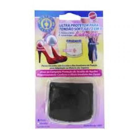 Ultra protetora para tendão soft-gel 2 em 1(par)-tamanho único-preto