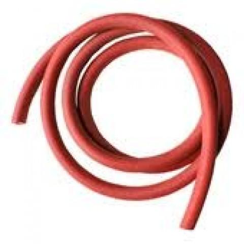 Tubo elástico 1,5mts na cor vermelha médio para exercício