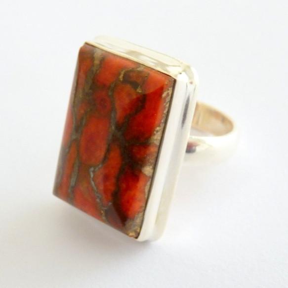 Anel de Prata 925 com Garantia Pedra preciosa Turquesa 3546