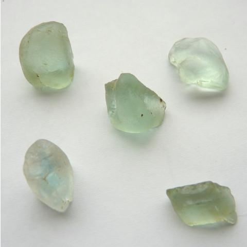 ÁGUA MARINHA Natural Pedra Preciosa Bruta Preço de 5 Peças com Qualidade GEMA 3405
