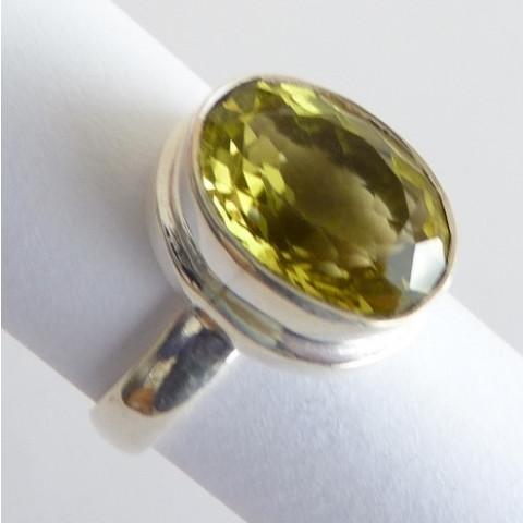 Anel de Prata 925 com Garantia e Pedra Preciosa Topázio Natural 7764