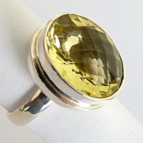 Anel de Prata Indiana 925 com Pedra Preciosa Topázio Natural 8482
