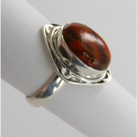 Anel Prata 925 com Garantia e Pedra Preciosa Turquesa Natural 8813