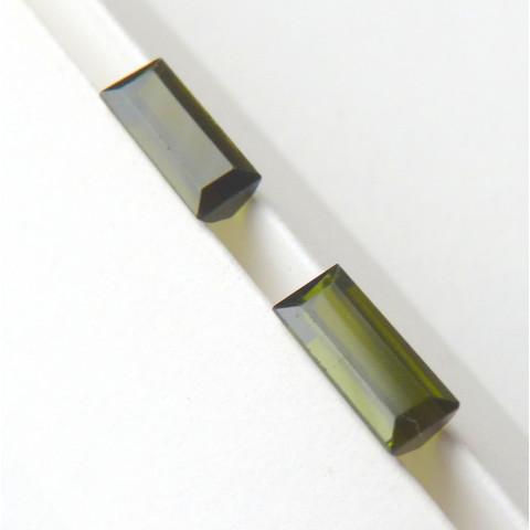 Turmalina Natural Preço Do Par Limpa Lupa 10x Superfina 5117