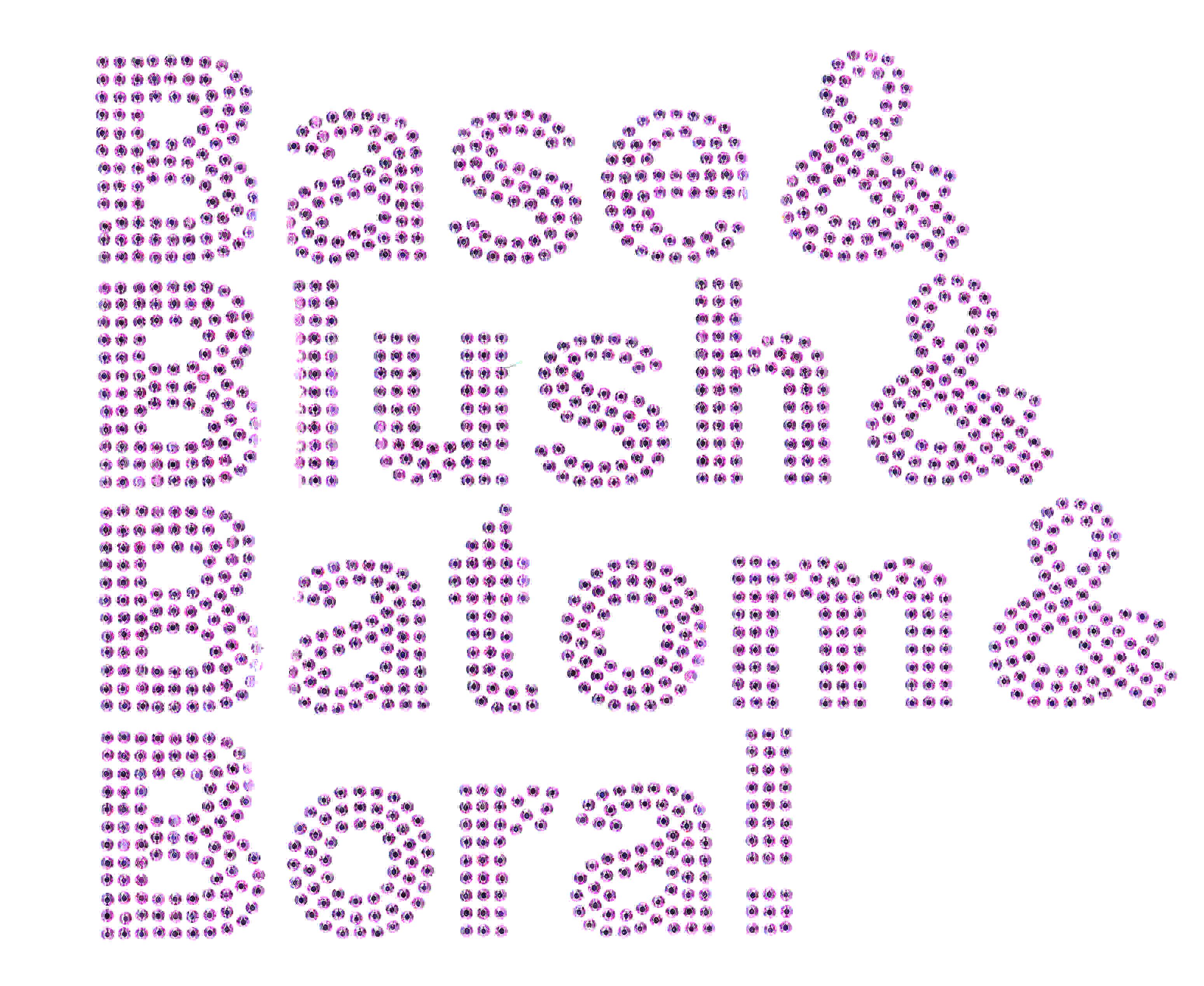 TRANSFER STRASS BASE BLUSH BATOM (1223)