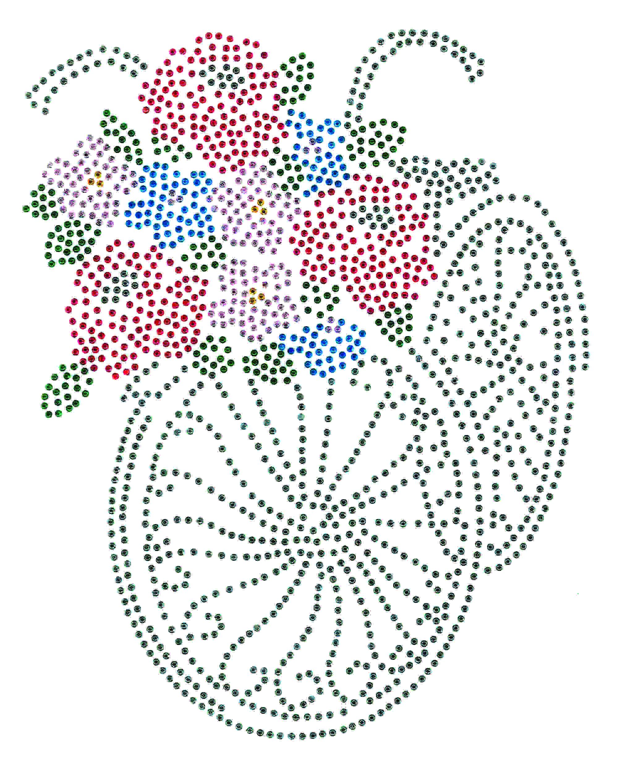 TRANSFER STRASS BICICLETA FLORES GRAFITE (959)
