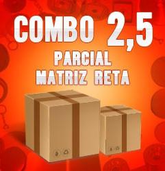 Combo parcial com matriz reta 2,5
