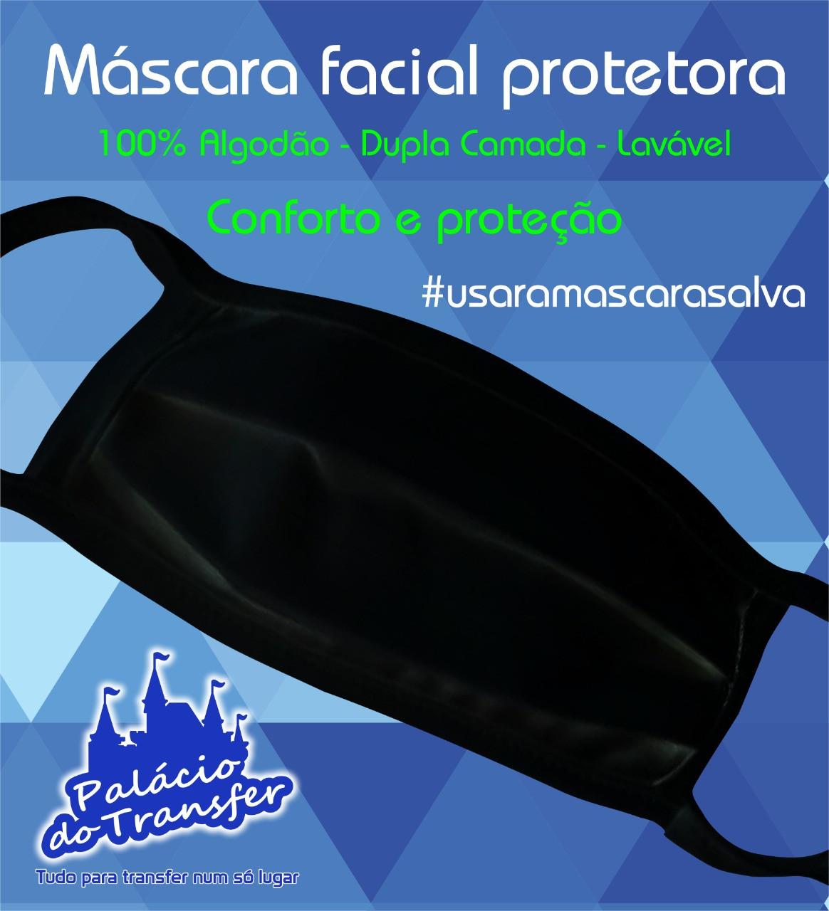 MÁSCARA FACIAL BRANCA OU PRETA - 100 unidades