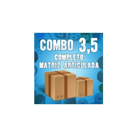 Prensa de bottons - Combo completo com matriz articulada 3,5