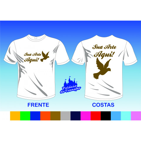 CAMISETA COM POWER FILM FRENTE A4 E COSTAS A3
