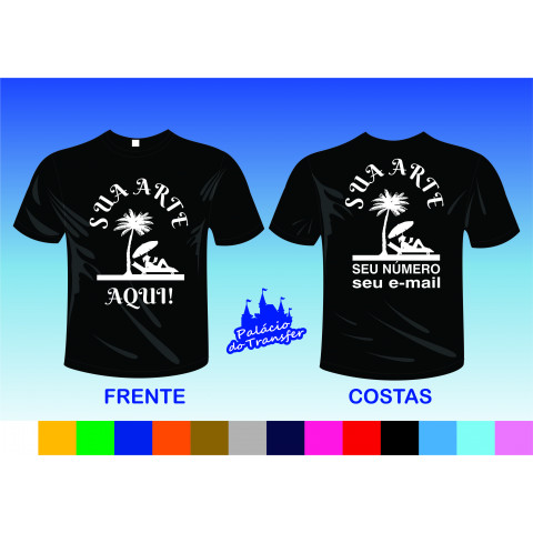 CAMISETA COM POWER FILM FRENTE A3 E COSTAS A3
