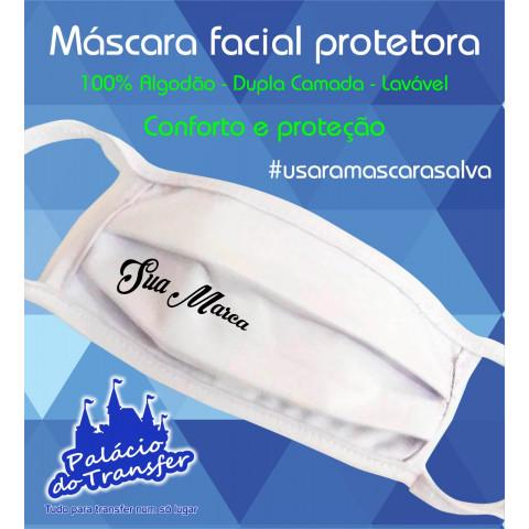 MÁSCARA FACIAL PERSONALIZADA - 100 unidades