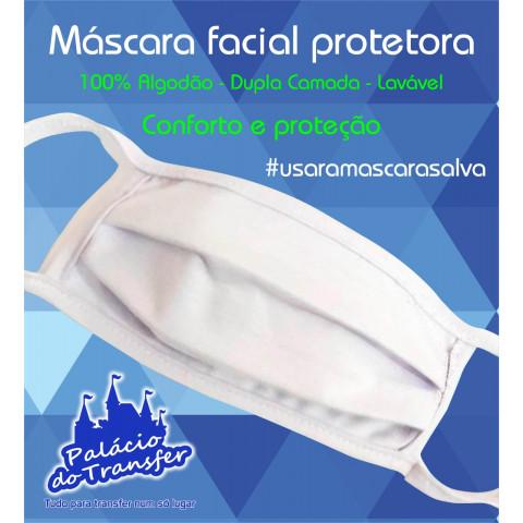 MÁSCARA FACIAL BRANCA OU PRETA - 10 unidades