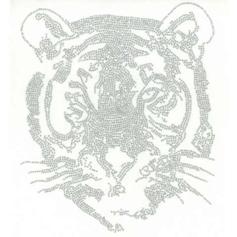TRANSFER STRASS TIGRE PRATA (1002)