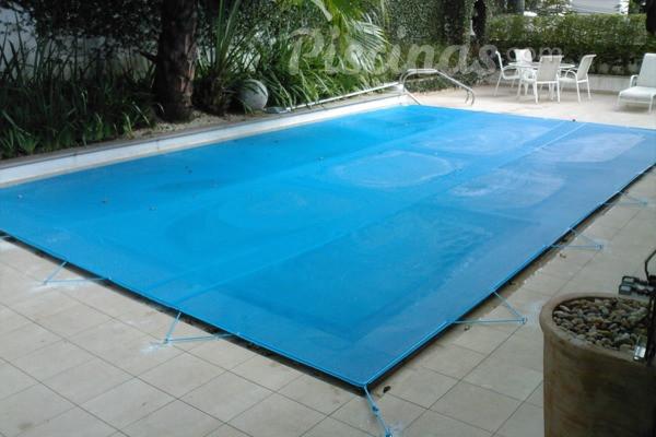 Capa para Piscina 300 Micra 8x8 Azul Branco Prata ou Laranja