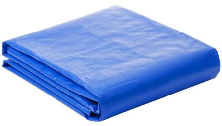 Lona Plástica 100 Micra com Ilhoses 15x15 Azul