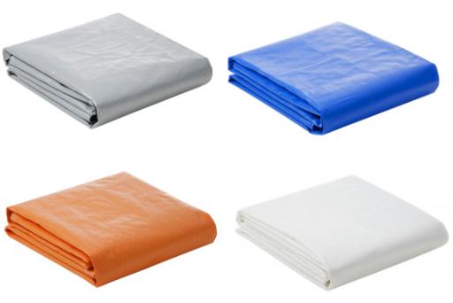 Lona Plástica 300 Micra com Ilhoses 8x4 Azul Branco Prata ou Laranja