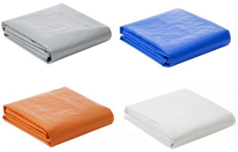 Lona Plástica 300 Micra com Ilhoses 4x4 Azul Branco Prata ou Laranja