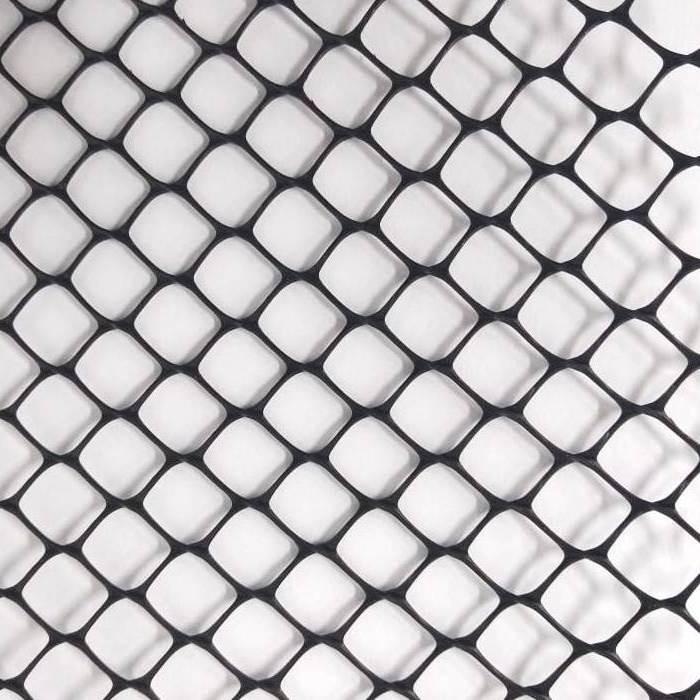 "Tela Plastica Hexagonal Preta 1,25 cm Viveiro 1,50x50m malha de 1/2"""