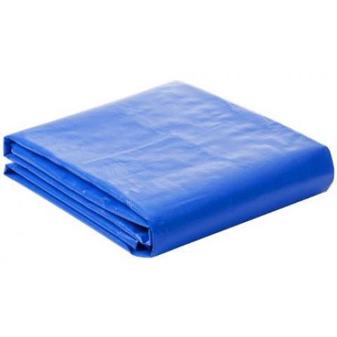 Lona Plástica 100 Micra com Ilhoses 8x2 Azul