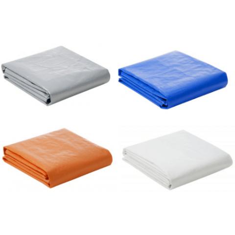 Lona Plástica 300 Micra com Ilhoses 6x6 Azul Branco Prata ou Laranja