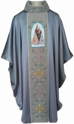 Casula com Imagem de Nossa Senhora de Nazaré. CÓD: CAS-127