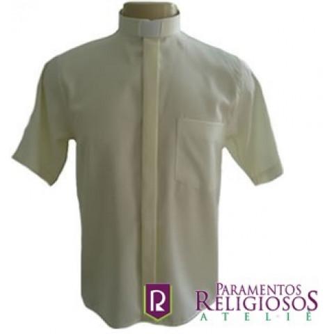 Camisa Clerical Manga Curta.        CÓD: CAC-010