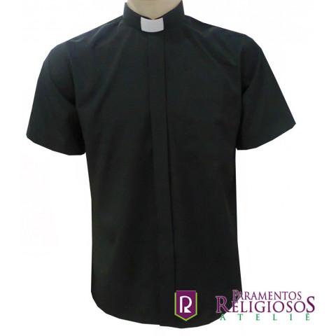 Camisa Clerical Manga Curta. CÓD: CAC-011