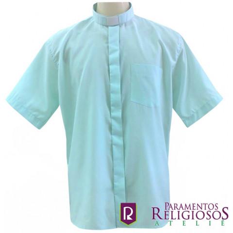 Camisa Clerical Manga Curta. CÓD: CAC-032