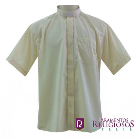 Camisa Clerical Manga Curta. CÓD: CAC-033