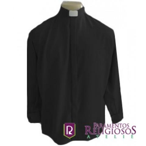 Camisa Clerical Punho Duplo para Abotoadura.      CÓD: CAC-015