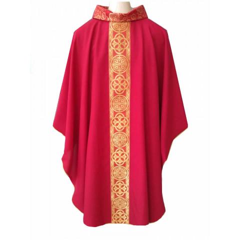 Casula Vermelha com Galão Litúrgico nas Cores da Liturgia. Cód: CAS-203