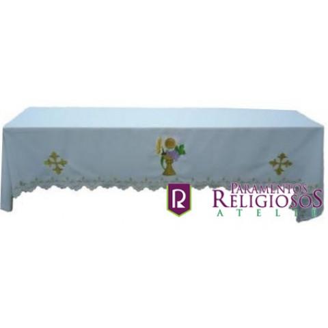 Conjunto de Toalhas de Altar. Com Três Peças   CÓD: CMA-004