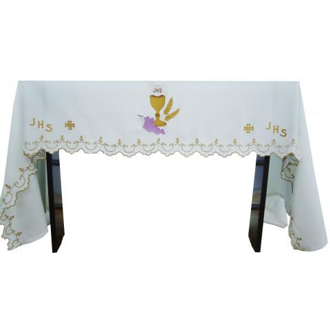 Conjunto de Toalhas de Altar. Com Três Peças.     CÓD: CMA-013