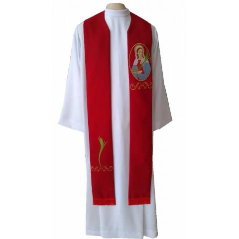 Estola de Santa Luzia Bordada nas cores Branca e Vermelha. CÓD: EST-039