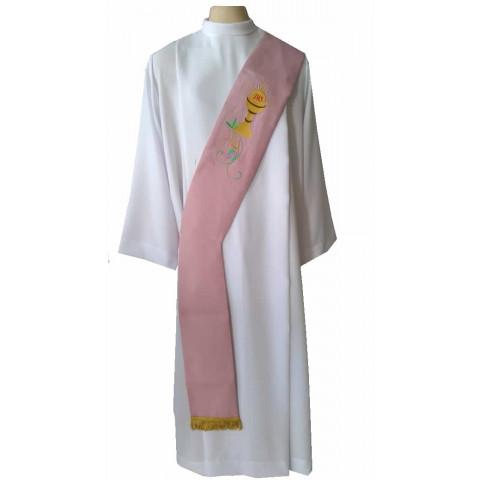 Estola Diaconal Bordada nas cores Rósea, Verde, Branca, Roxa e Vermelha. CÓD: DIAC- 019
