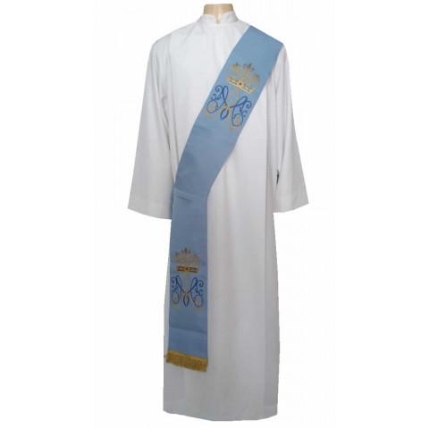 Estola Diaconal Mariana Azul. CÓD: DIAC-051