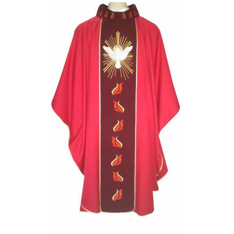 Casula Vermelha Divino Espírito Santo. CÓD: CAS-754