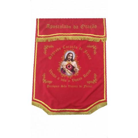 Standart Sagrado Coração de Jesus personalizado. CÓD: BAND-002