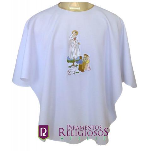 Veste para Leitor com imagem de Nossa Senhora de Fátima bordada.  CÓD: VPL-036