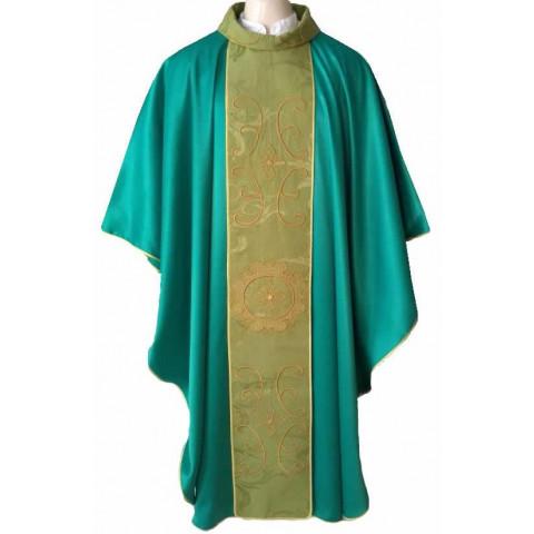 Casula Verde Bordada. CÓD: CAS-1411