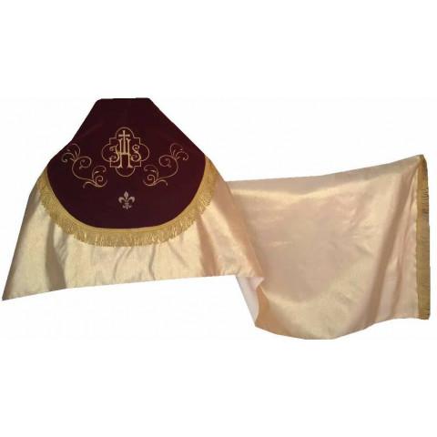 Véu Umeral Dourado com detalhes em Bordado. CÓD:VEU-005