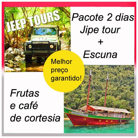 Promoção ESCUNA SOBERANO DA COSTA +  JEEP TOUR