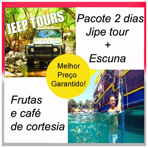 PACOTE ESCUNA CALIEL +  JEEP TOUR