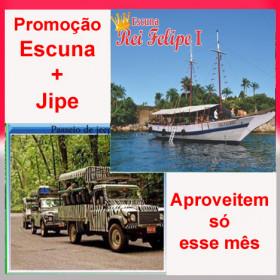 Melhor preço garantido !!! ESCUNA REI FELIPE +  JEEP TOUR