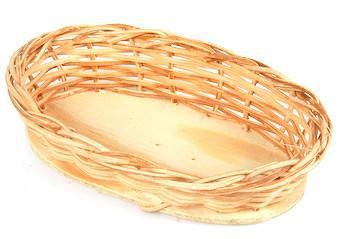 Bandeja de cipó oval mini 15x10x3 altura
