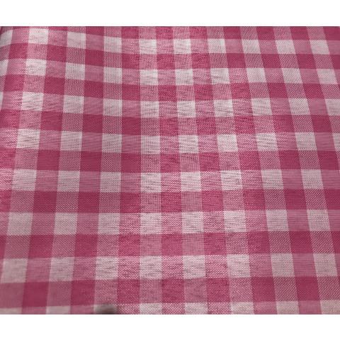 Tecido Tergal Xadrez Rosa 1m x 1,40 largura