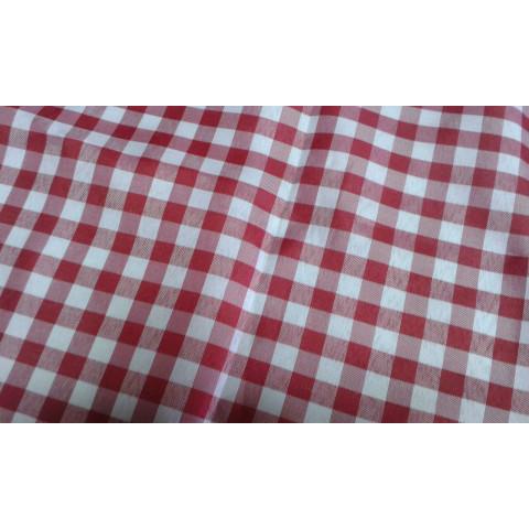 Tecido Tergal Xadrez Vermelho 1m x 1,40 largura